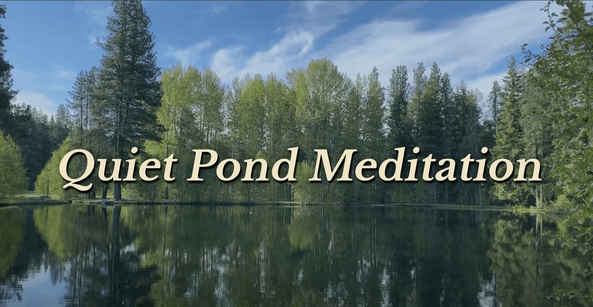 quiet pond meditation